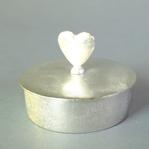 Pewter Trinket Box with Heart.