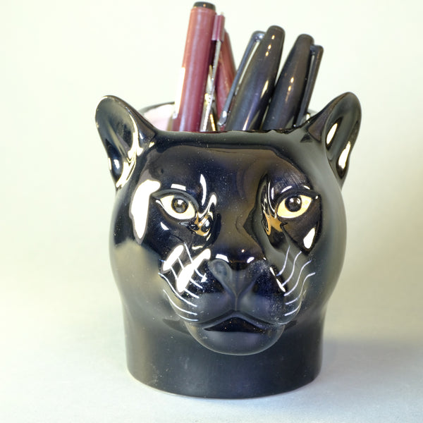 Ceramic 'Panther' Pot by Quail
