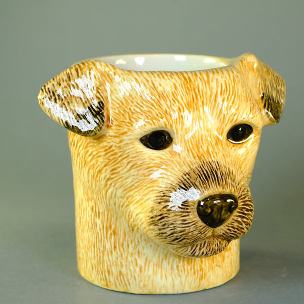 Ceramic 'Border Terrier' Pencil Pot by Quail