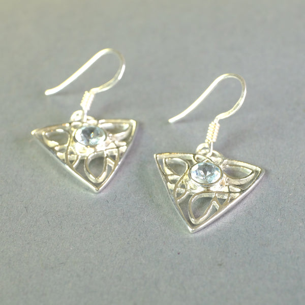 Silver and Blue Topaz Earrings.