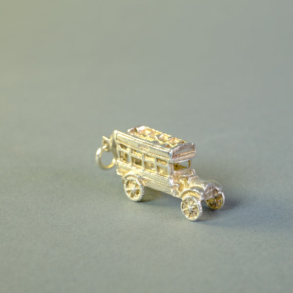 Vintage Silver 'Bus' Charm.