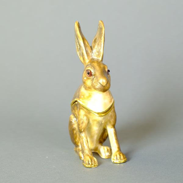 Enamellled Trinket Box - Hare