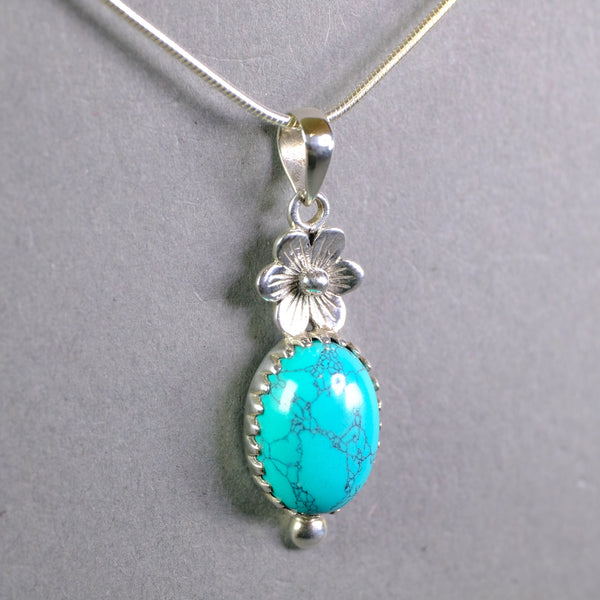 Silver and Turquoise Pendant.