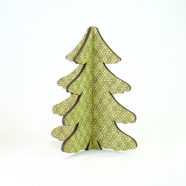 Small Green Slot Christmas Tree.