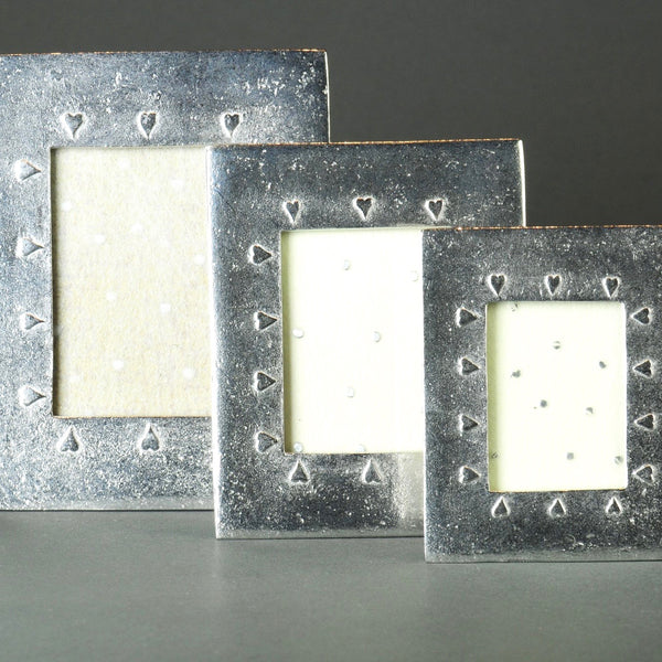 A Handmade Pewter Mini Frame - small