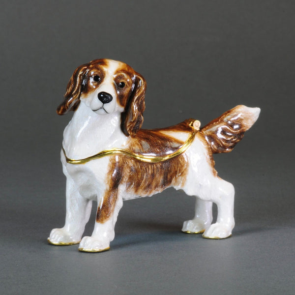 Enamelled Trinket Box - Spaniel