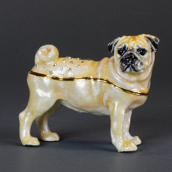 Enamellled Trinket Box - Pug