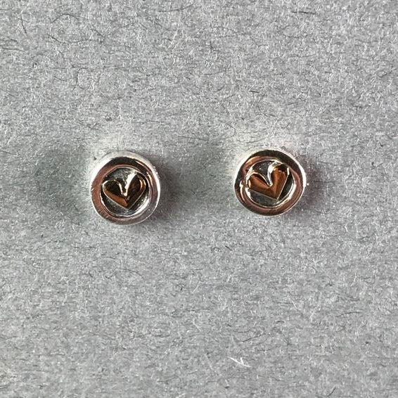 Linda Macdonald Handmade Heart Stud Earrings.