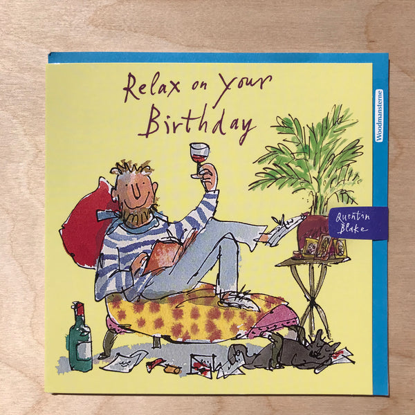 Quentin Blake Happy Birthday Card.