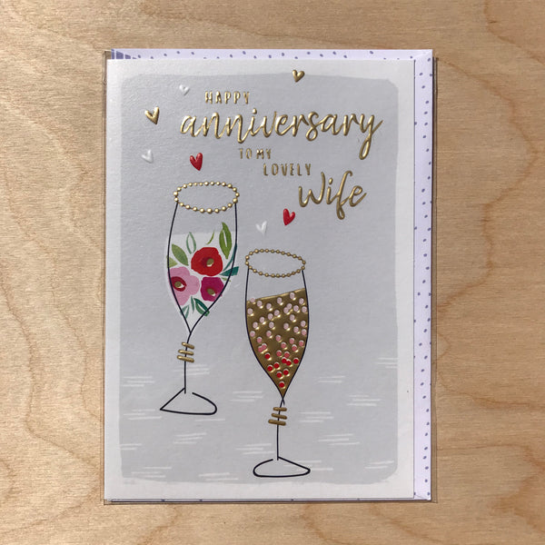 Happy Anniversary Wife Card.