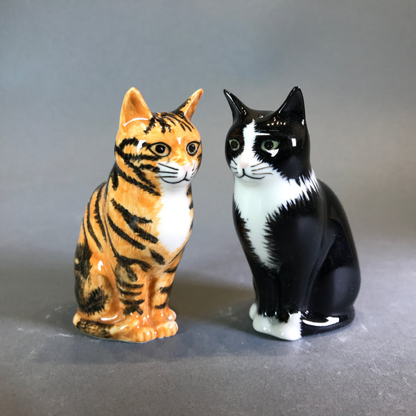 Ceramic 'Cats' Salt and Pepper Set by Quail