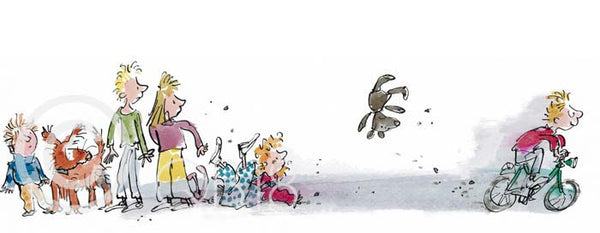 'Simpkin Fast' Framed Limited Edition Print by Sir Quentin Blake.