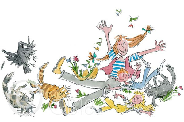 'She Isn't Quite Like Other Folk' Framed Limited Edition Print by Quentin Blake.