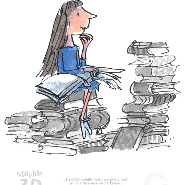 Roald Dahl's Matilda  'The child in Question is Extra-Ordinary' Framed Limited Edition Print by Quentin Blake.