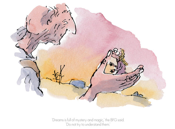 Roald Dahl's BFG 'Dreams is full of Mystery' Framed Limited Edition Print by Quentin Blake.