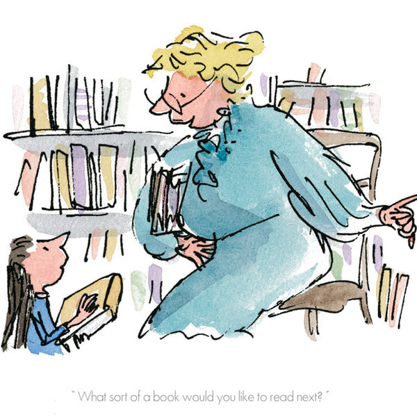 Roald Dahl's Matilda 'What Sort of Book Would You Like to Read?' Framed Limited Edition Print by Quentin Blake.