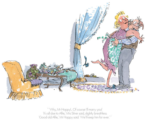 Roald Dahl's Esio Trot 'Of Course I'll Marry you' Framed Limited Edition Print by Quentin Blake.