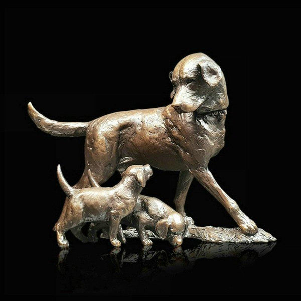 Bronze Labrador with Puppies by Michael Simpson