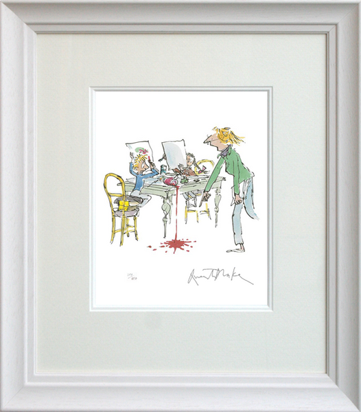 'Simpkin That' Signed, Framed Limited Edition Print by Sir Quentin Blake.