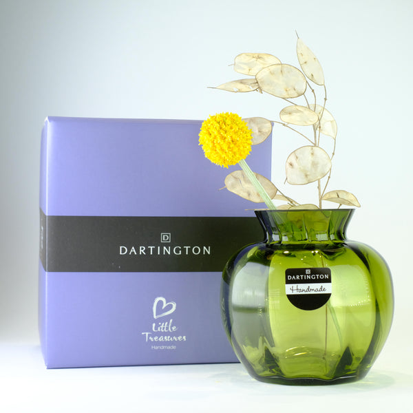 Dartington Little Treasures Olive Optic Vase.