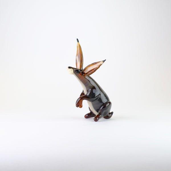 Handmade Glass Hare by Elizabeth Welch.