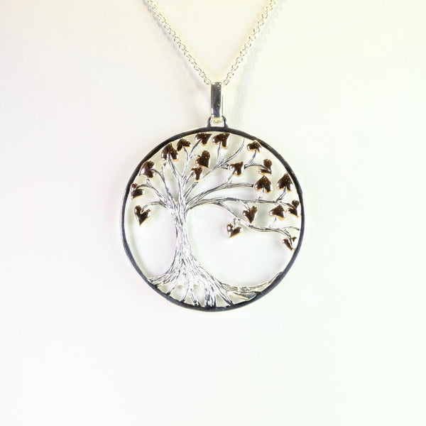 Large Silver and Rose Gold 'Tree of Life' Pendant by 'Unique' Designs.