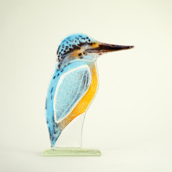 Fused Glass Kingfisher.