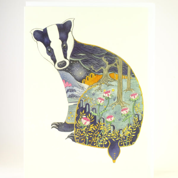 'Badger' Blank Greetings Card.