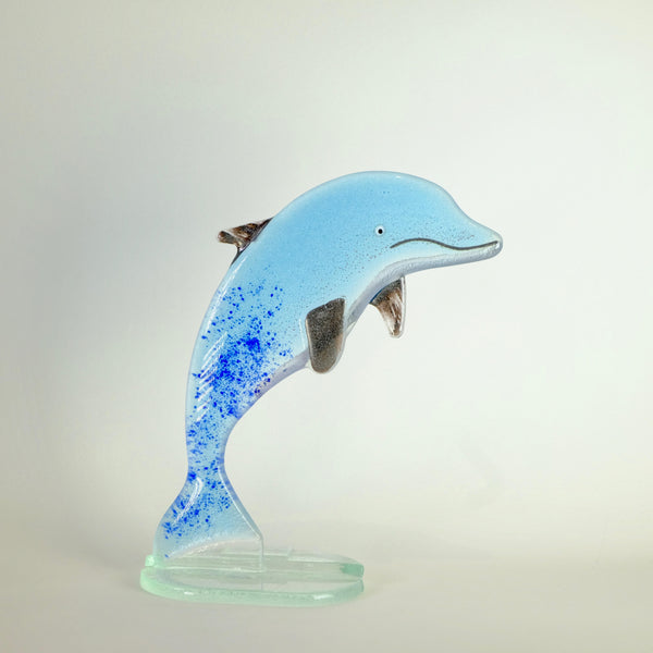 Fused Glass Dolphin.