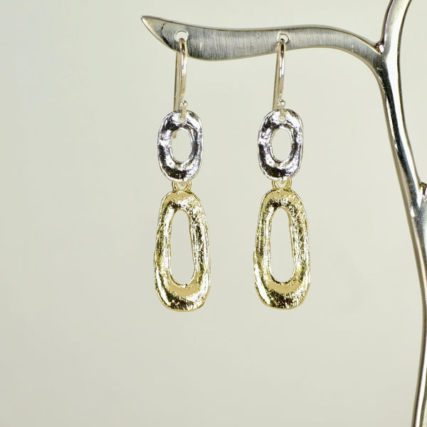 Silver and Gold Plated Earrings by JB Designs.