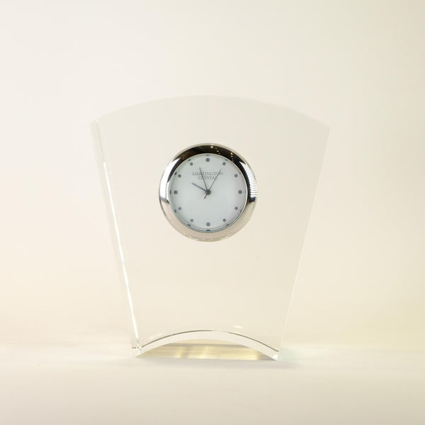 Dartington Clear Crystal Glass Clock.