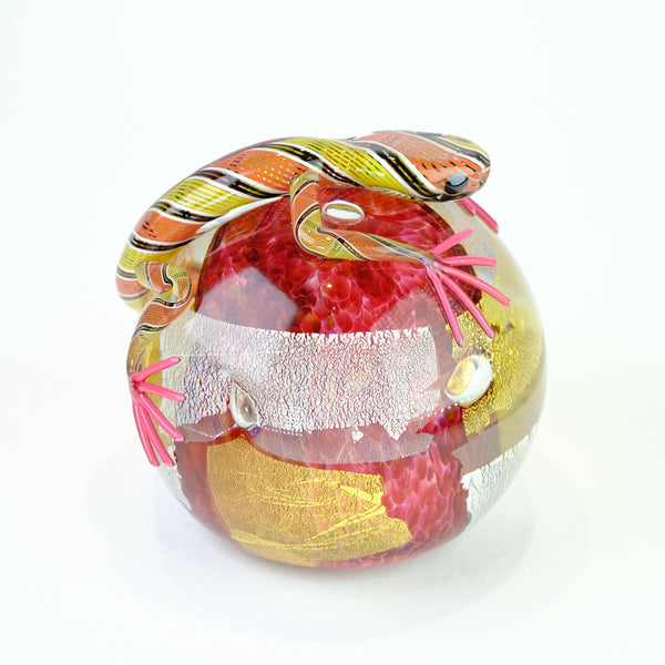 Glass Lizard Paperweight by Michael Hunter for Twists Glass.