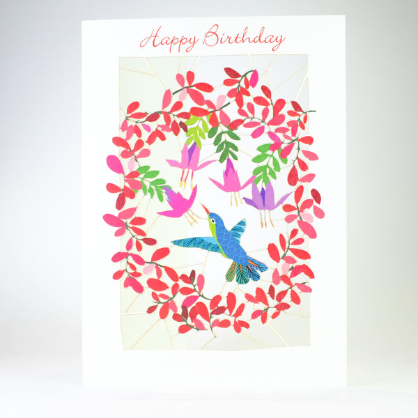 'Humming Bird' Laser Cut Blank Card