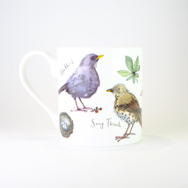 'Garden Birds' by Madeleine Floyd Bone China Mug.