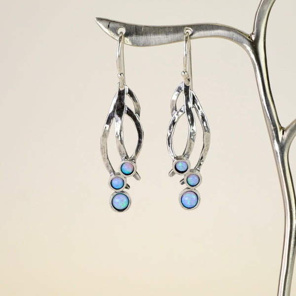 Opal and Silver earrings by JB Designs