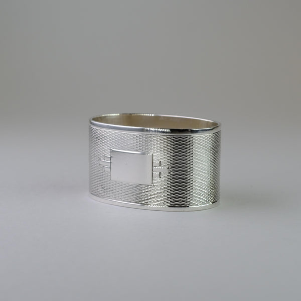 Single Vintage Silver Napkin Ring, Hallmarked in Birmingham 1955.