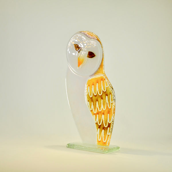 Fused Glass Barn Owl.