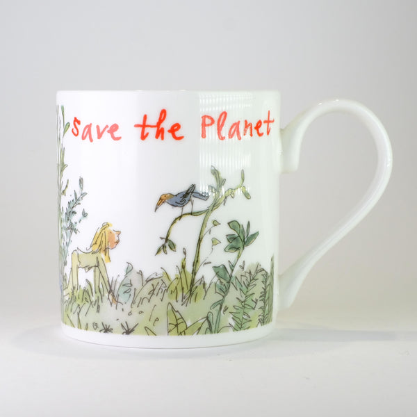 'Save the Planet' by Quentin Blake Bone China Mug.