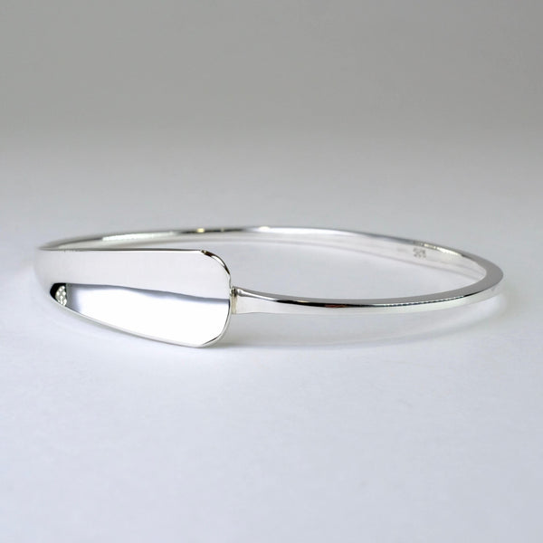 Overlap Sterling Silver Bangle Bracelet.