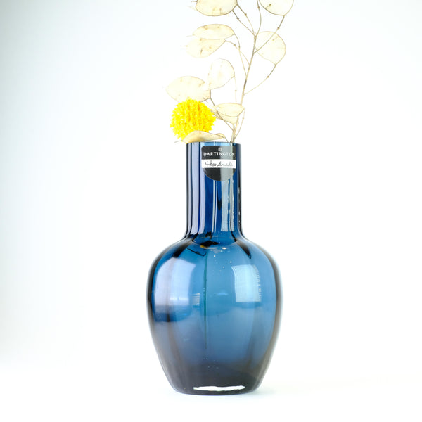 Dartington Little Treasures Ink Blue Optic Vase.