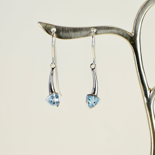 Blue Topaz and Silver Earrings