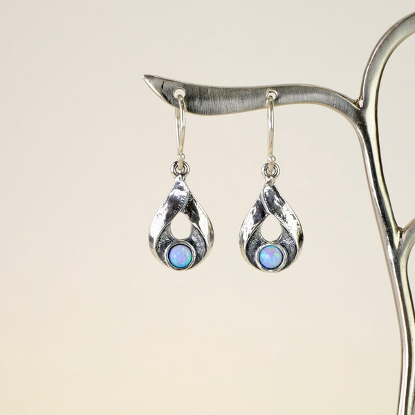 Opal and Silver earrings by JB Designs.