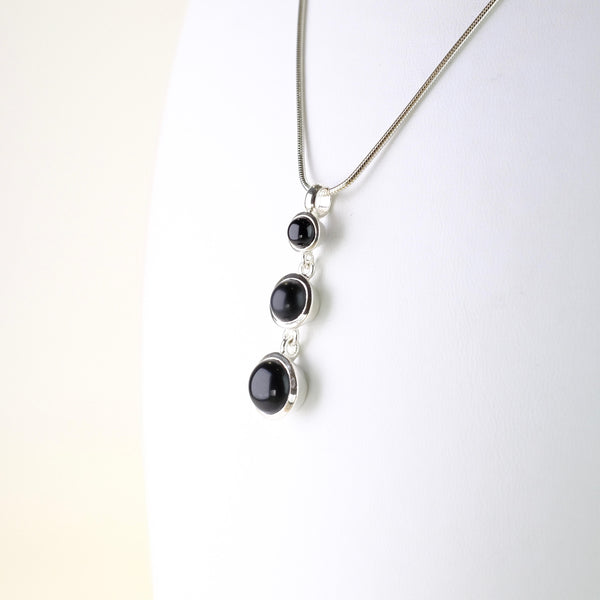 Silver and Black Onyx Pendant.