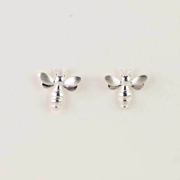 Silver Bee Design Studs.
