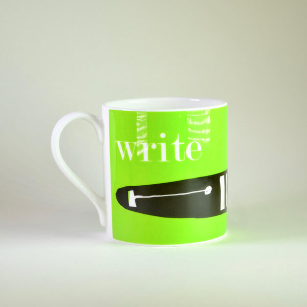 Graphic 'Write' Bone China Mug.