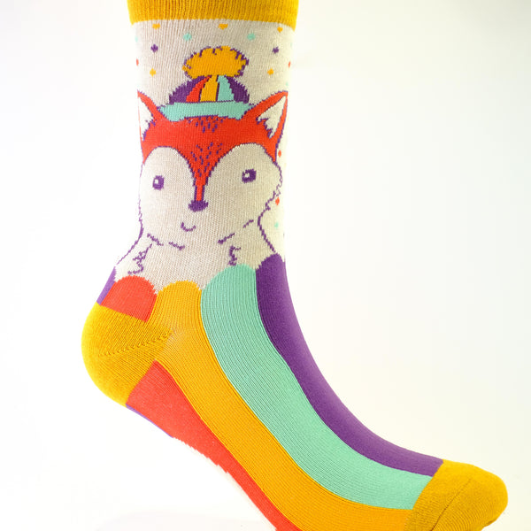Funky Fox Ankle Socks.
