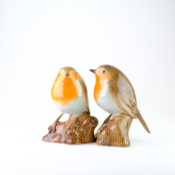 Ceramic 'Robin' Salt and Pepper Set by Quail.
