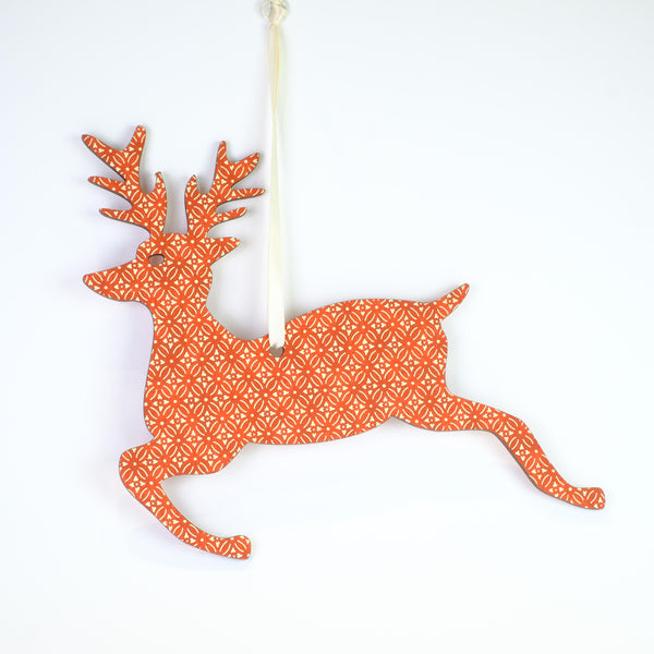 Hanging Reindeer Christmas Decoration.