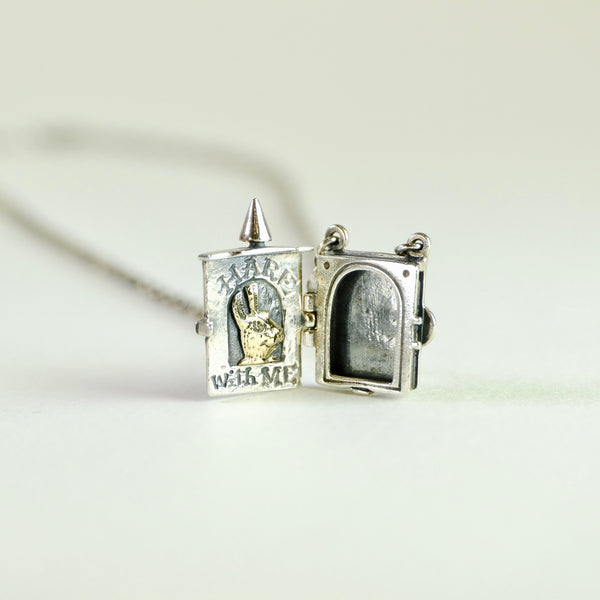 Handmade Silver 'Hare With me' Locket by Nick Hubbard.