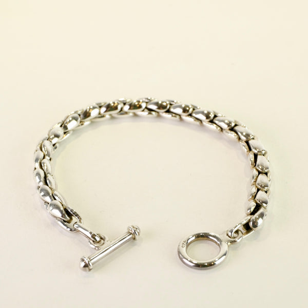 Gents Heavy Sterling Silver Bracelet.